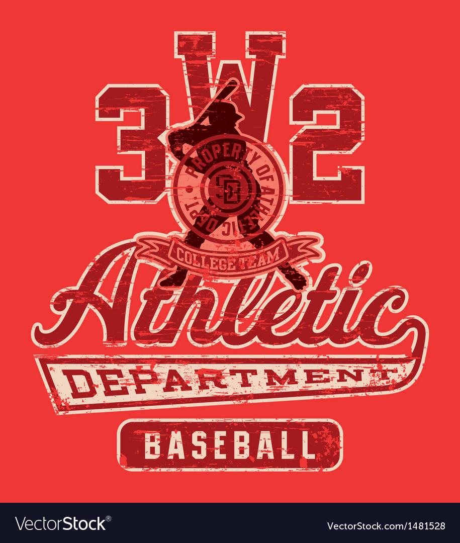 Baseball league graphic vector
