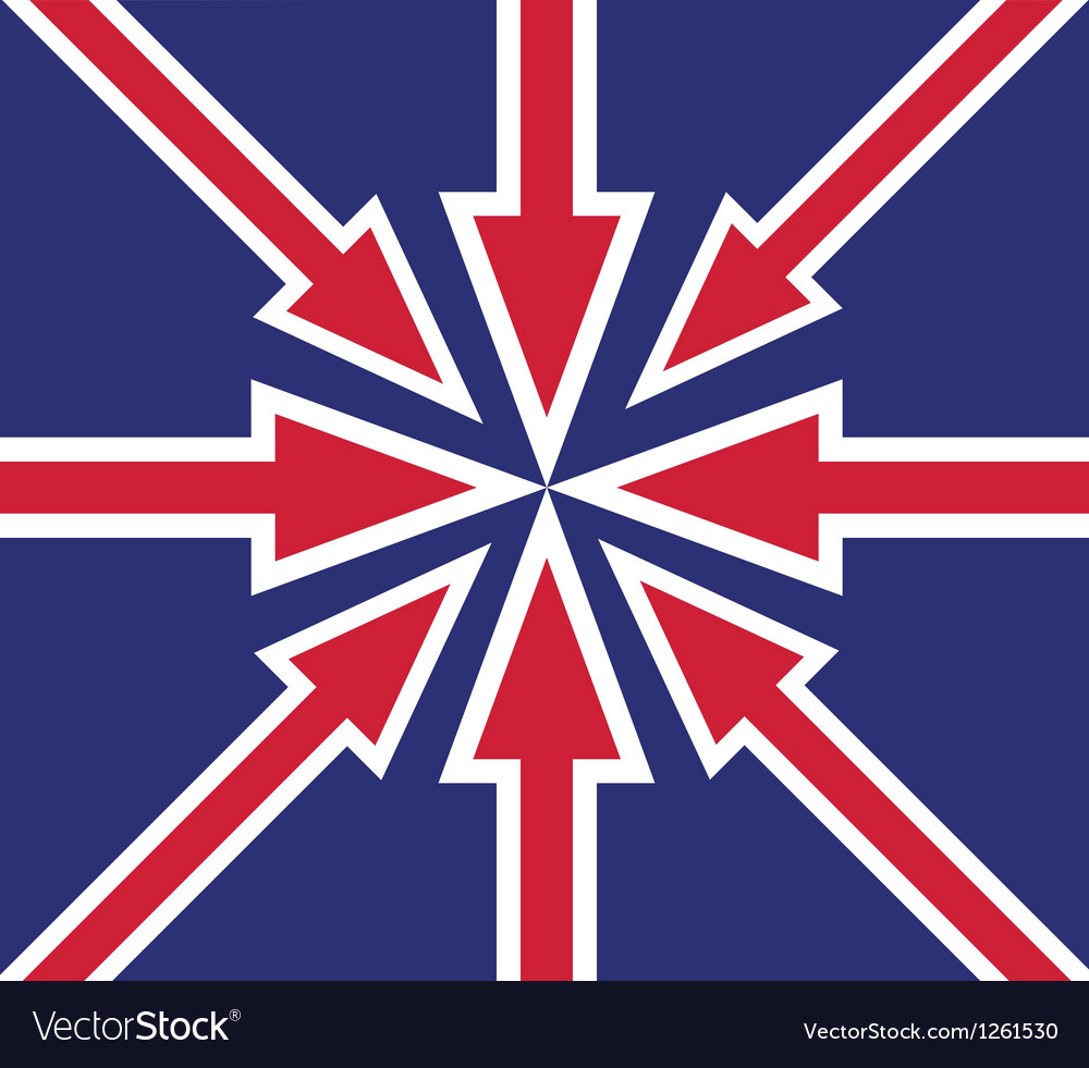 Britain abstract flag vector