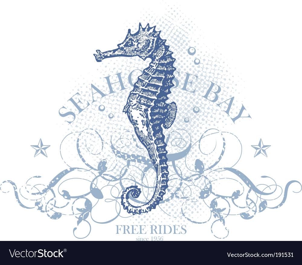 Seahorse bay vector