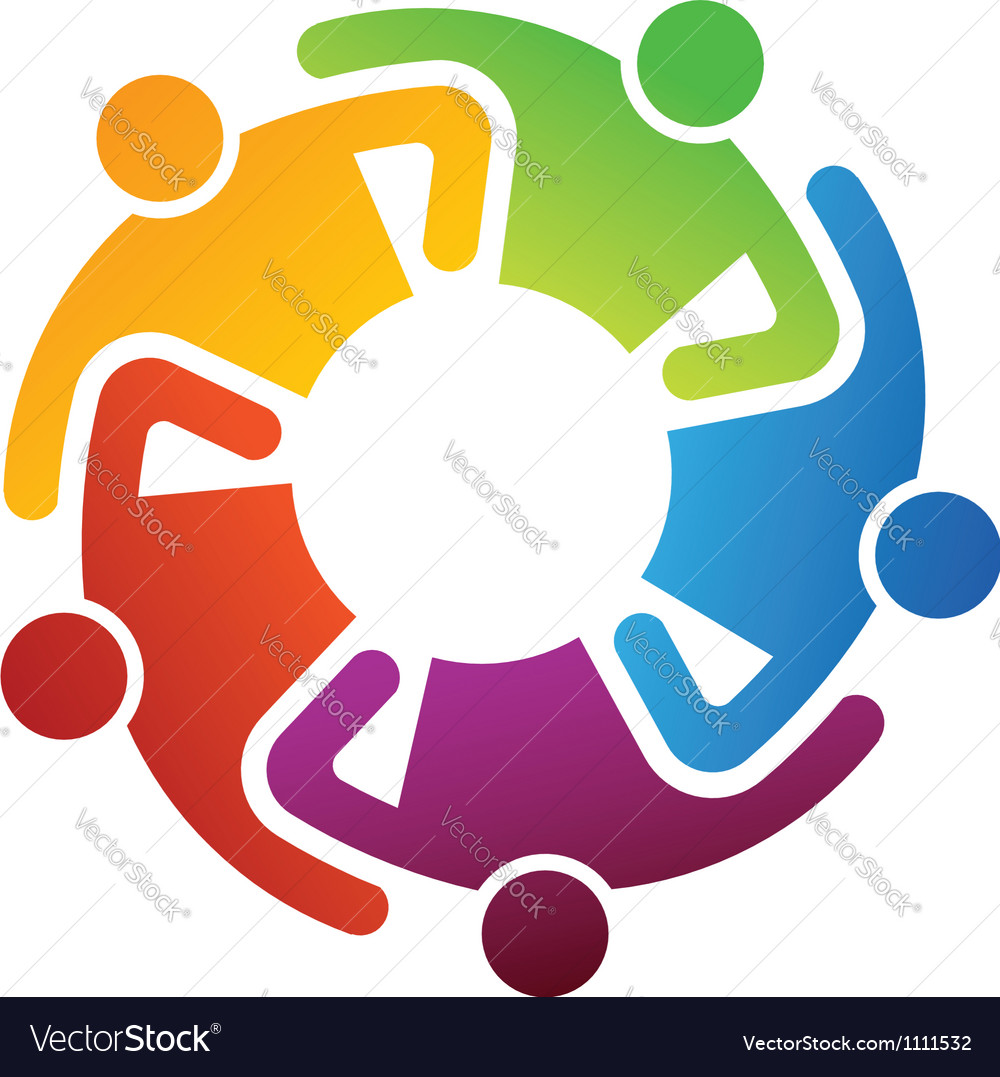 Teamwork share logo vector