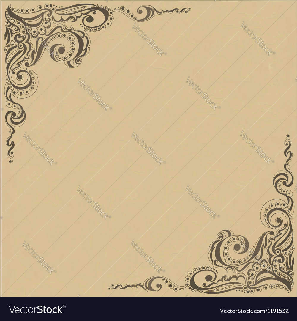 Template frame design for card vector