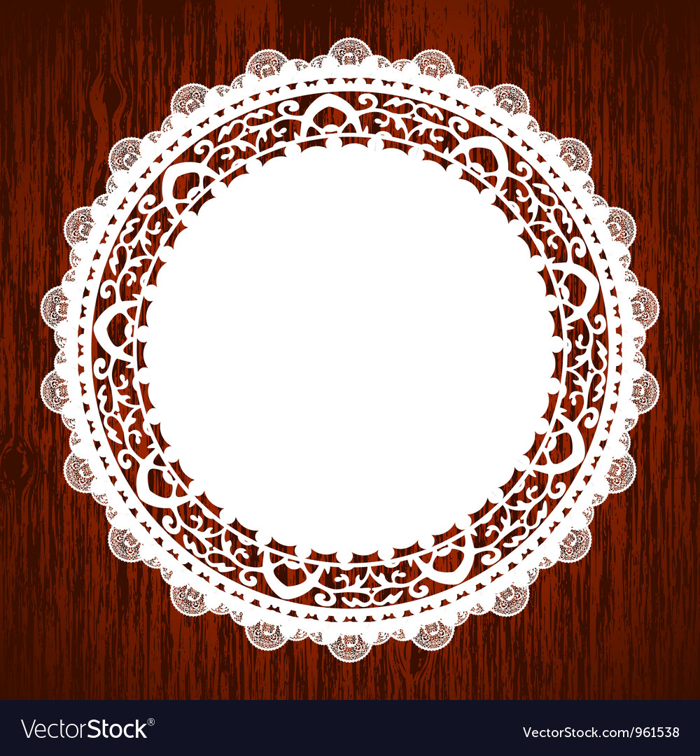 Napkin on wooden table vector