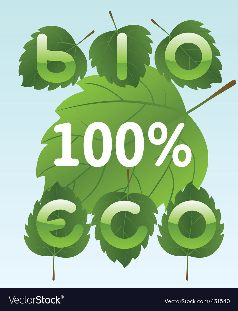 Free bio and eco labels vector