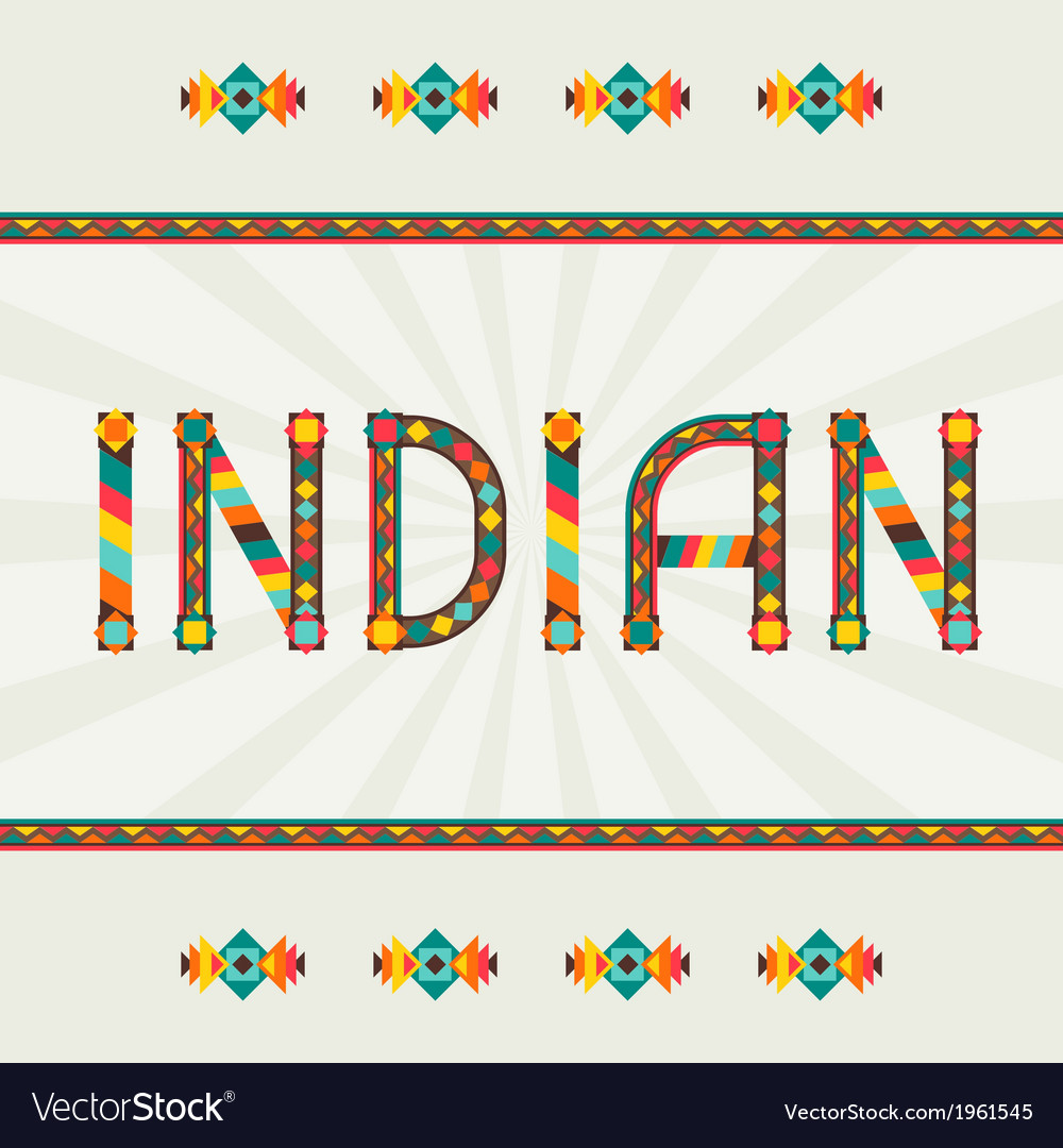 Indian design word with ornament vector by incomible - Image #1961545 ...