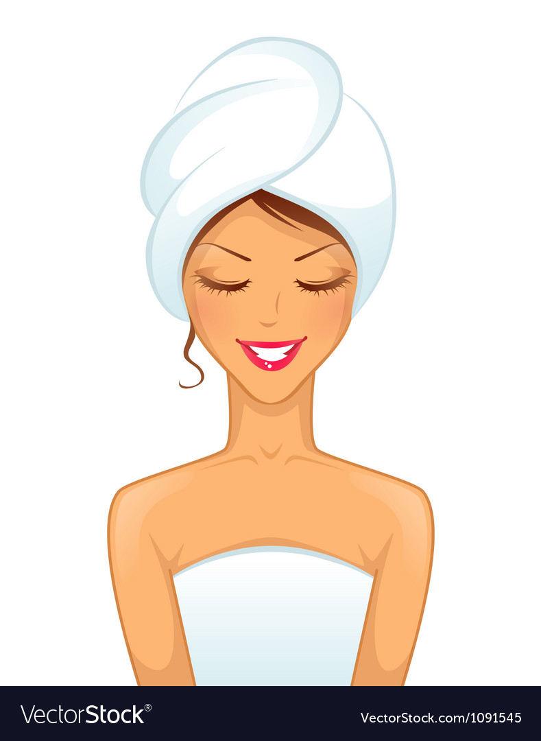 Woman spa vector