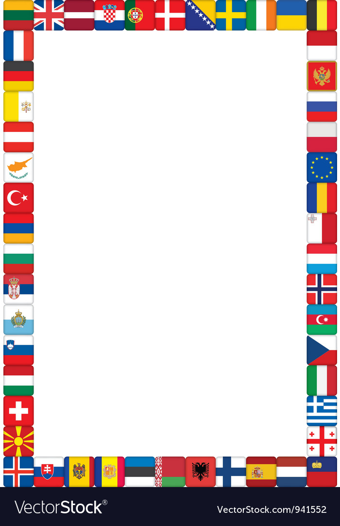 Frame made of flags vector International Flag Borders