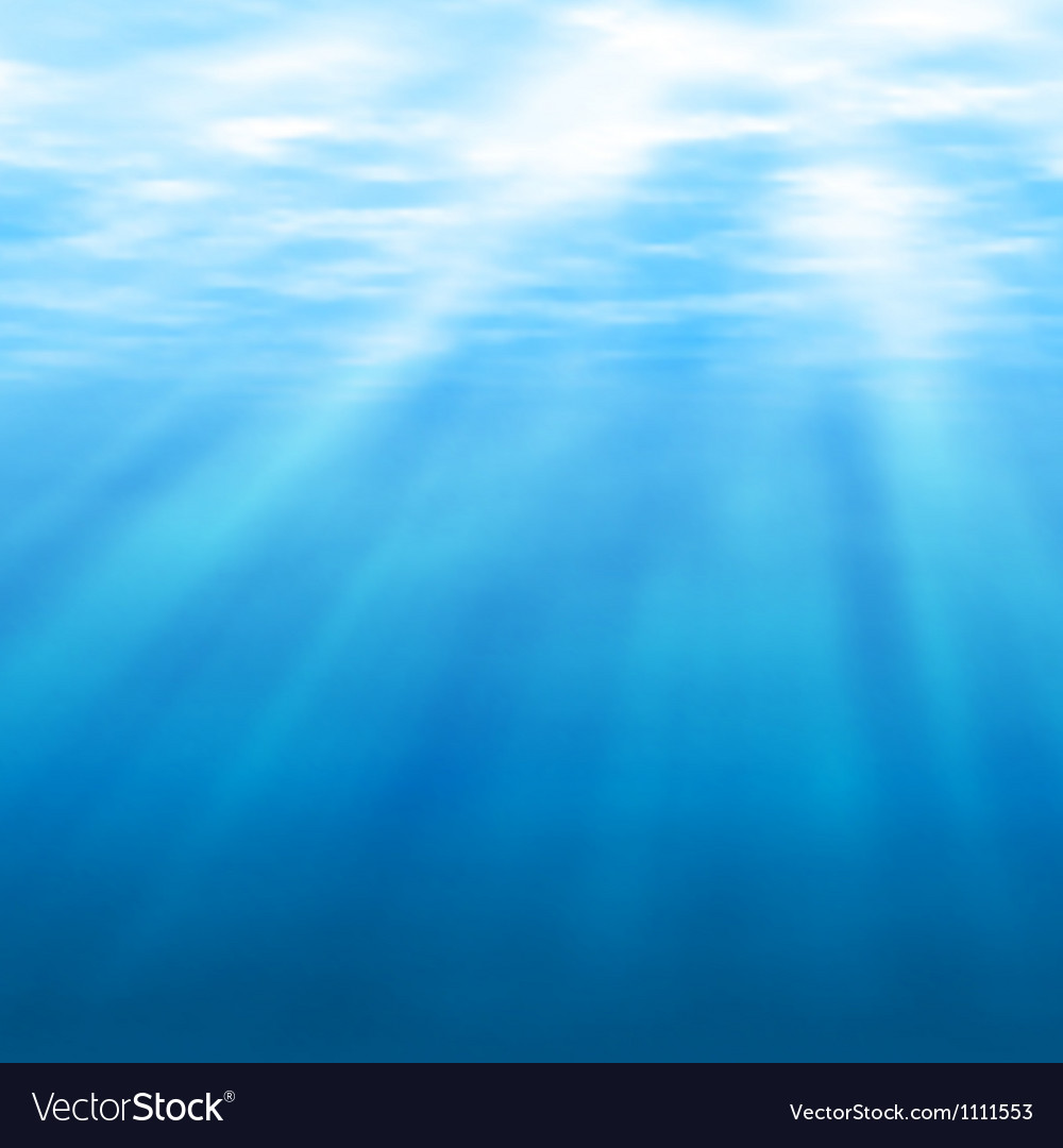 Undersea light vector