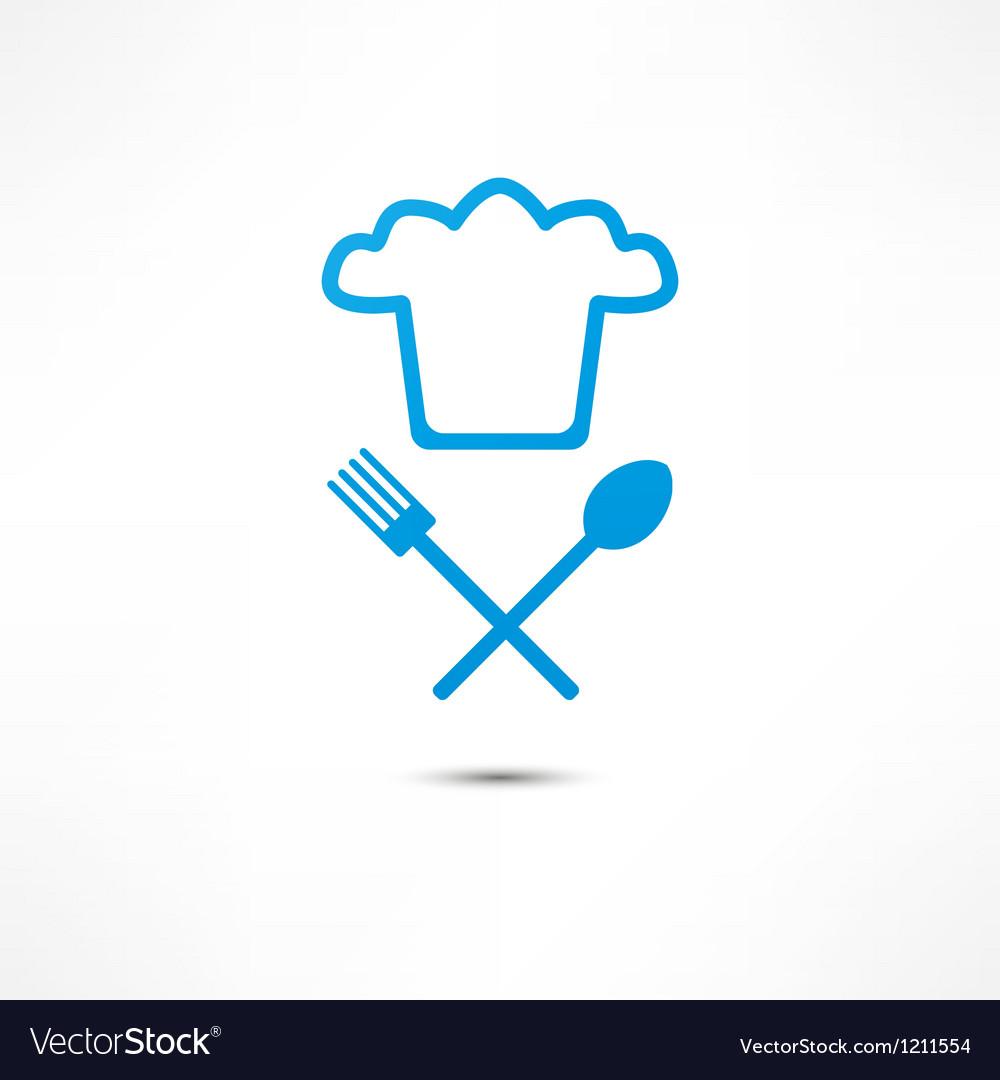 Chef hat icon vector