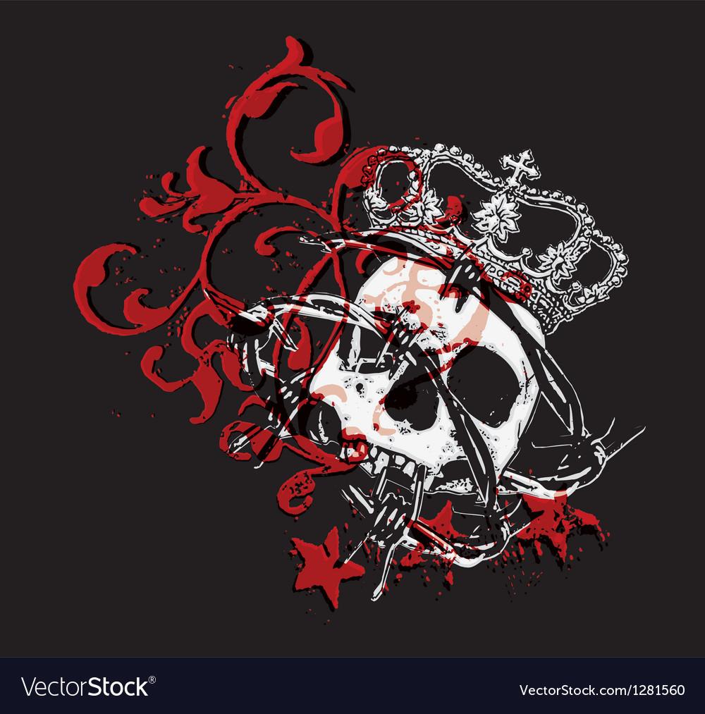 Gothic skull vector