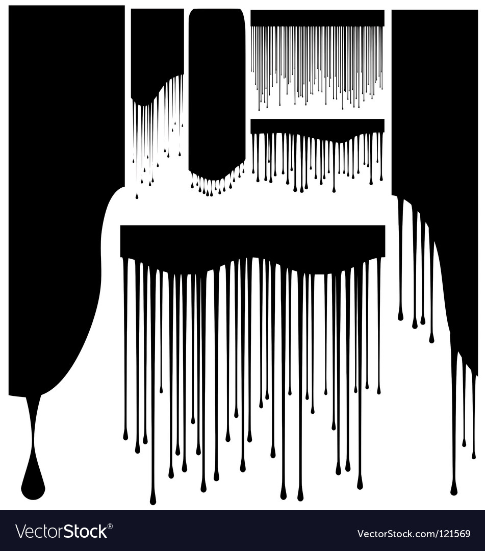 High quality various shape drips vector