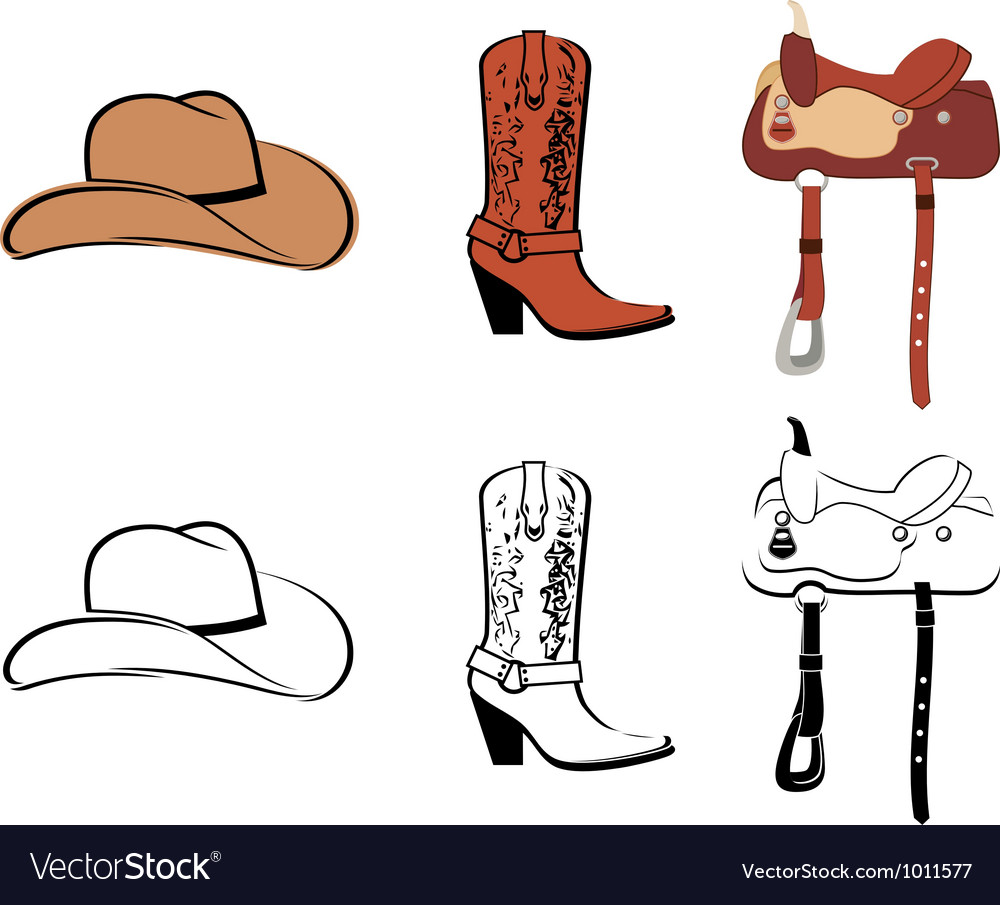 Set of clothes of the cowboy vector