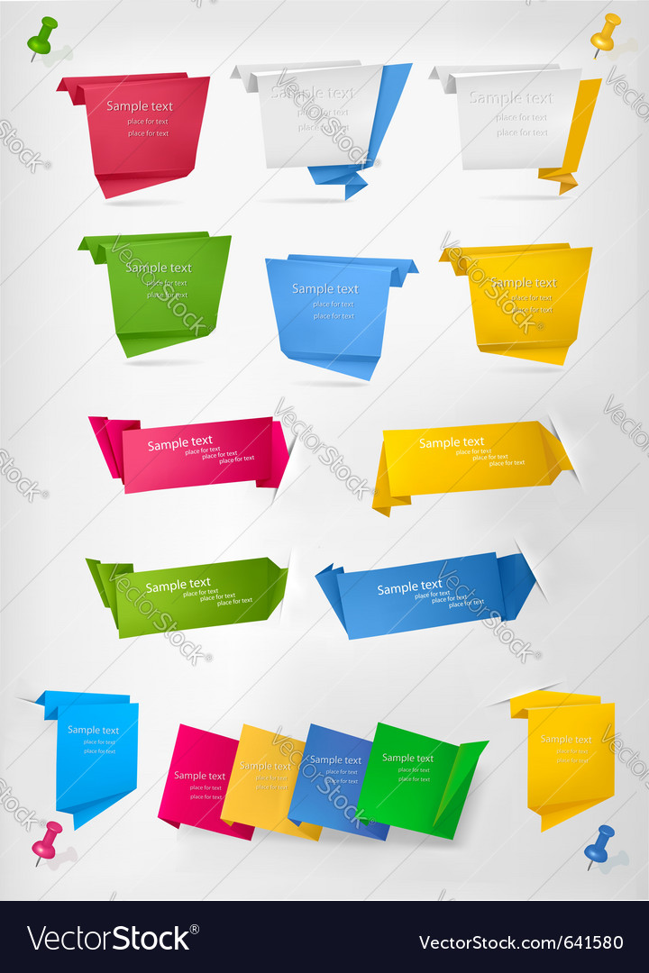 Set of stickers and banners vector