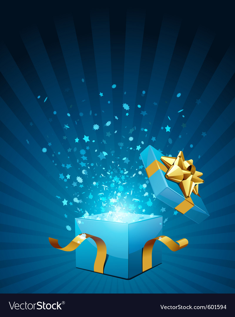 Christmas present box vector