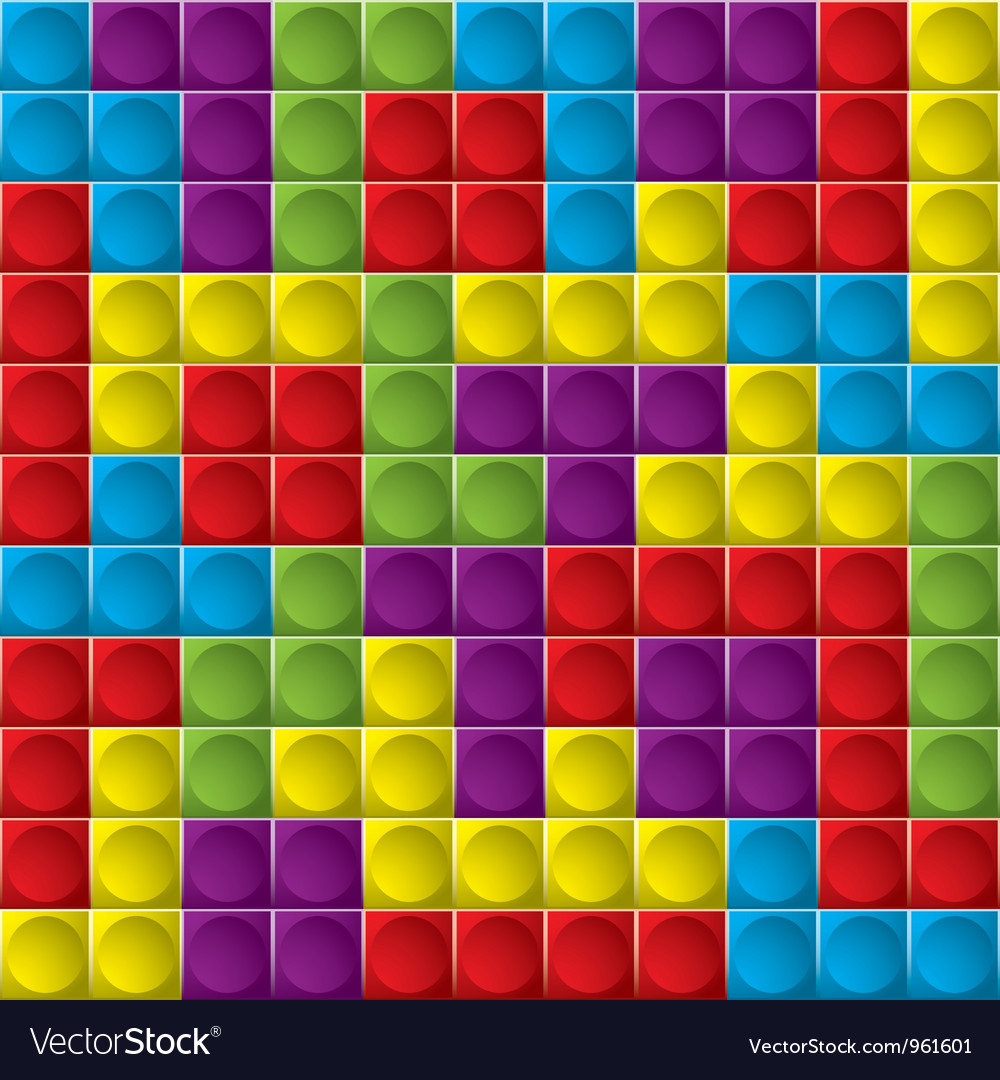 Tetris board background vector
