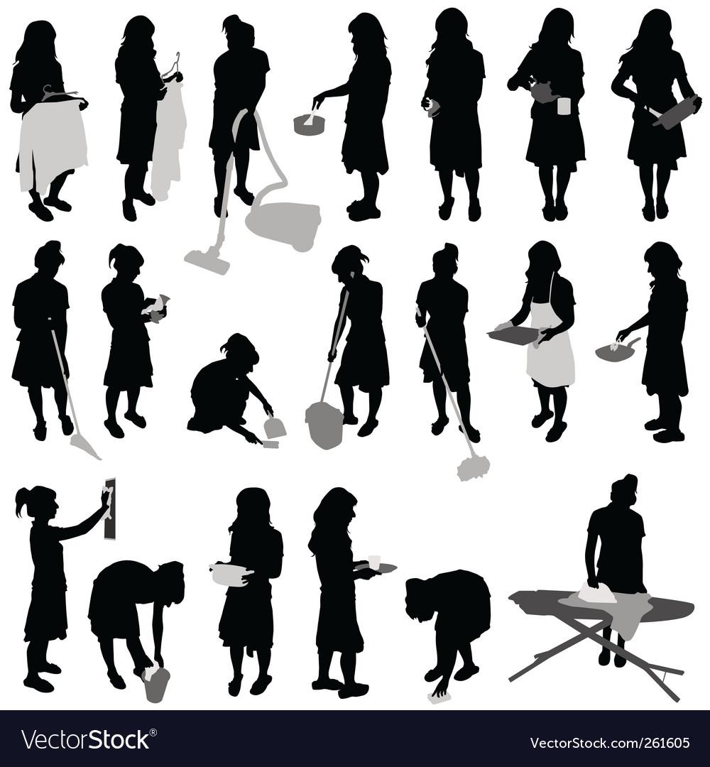 Housework vector
