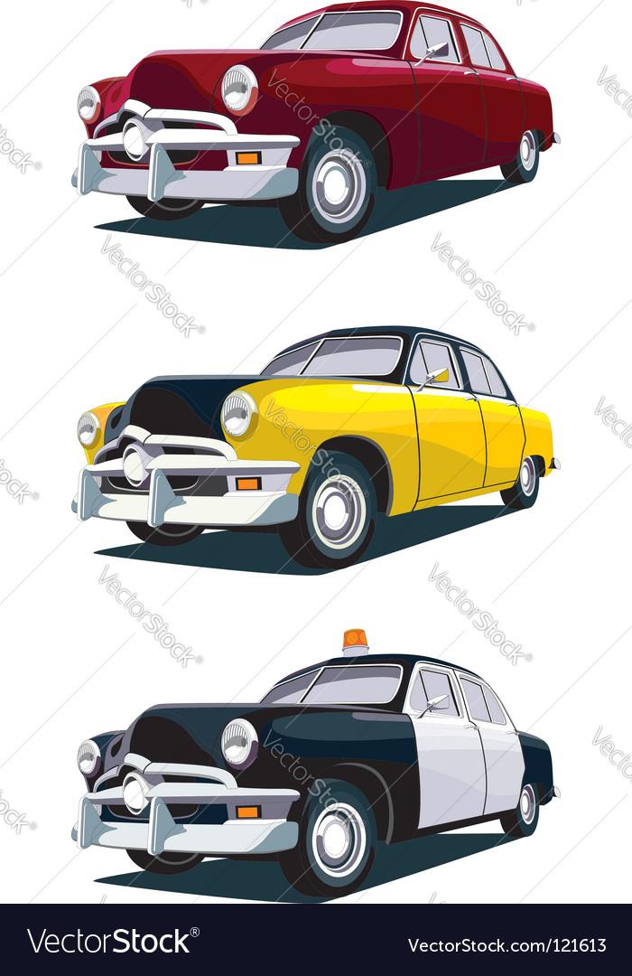 American vintage car vector