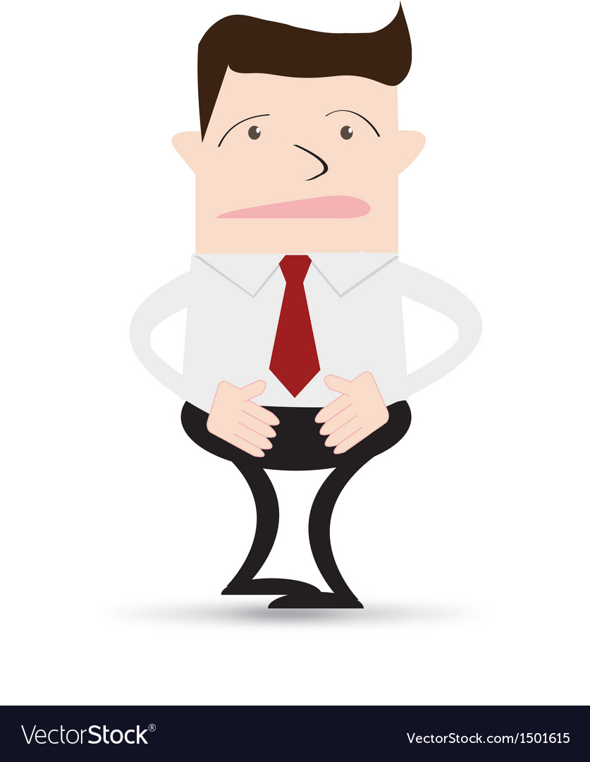 Business man stomach ache vector