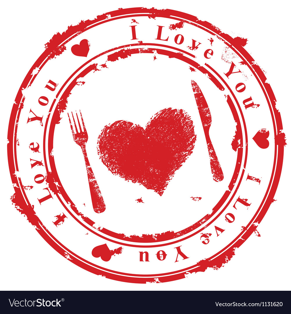 Love stamp vector