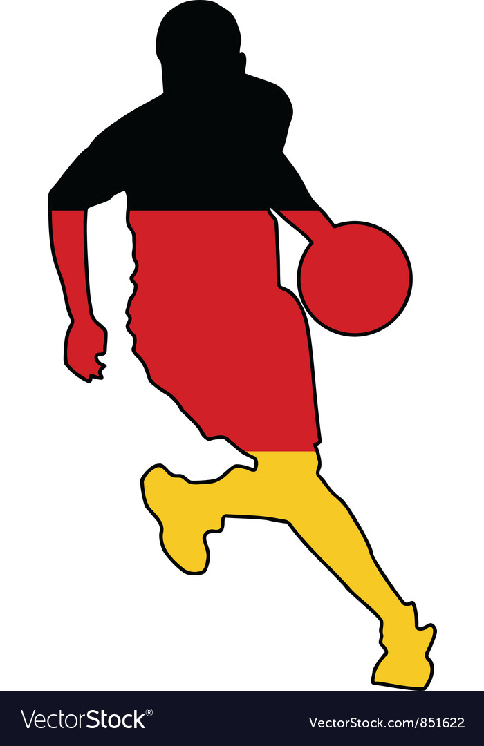 Basketball colors of germany vector