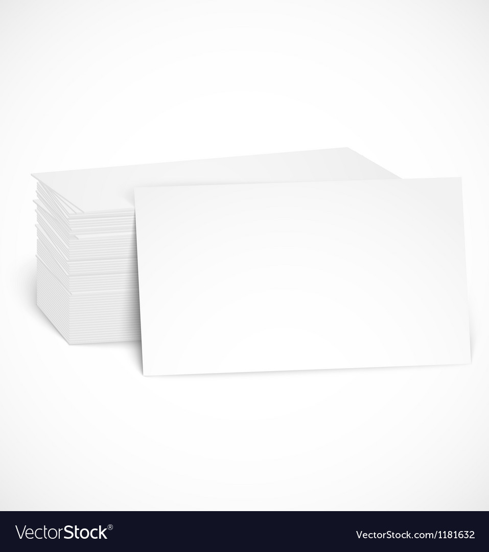 Pile of business cards with shadow template vector