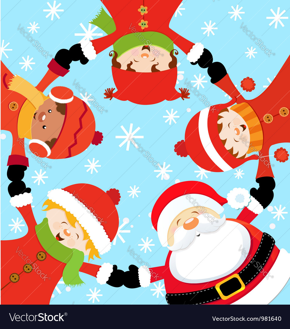 Santa christmas party vector
