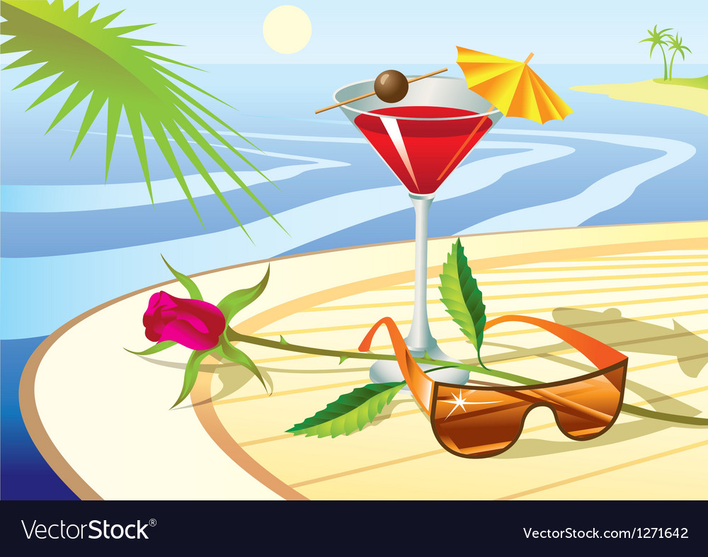 Beach cocktail vector