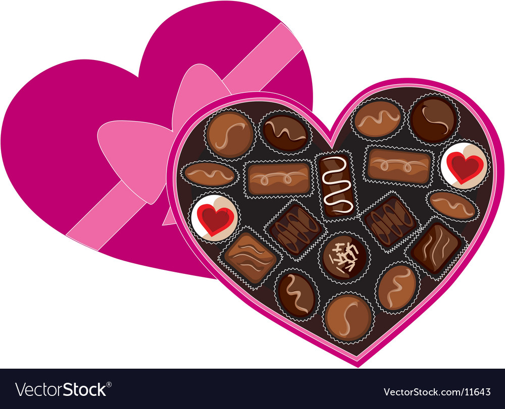 Box of chocolates vector