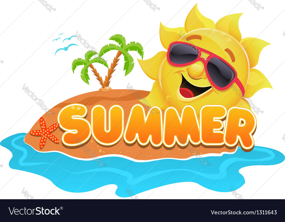 summer theme vector by pinipin image 1311643 vectorstock