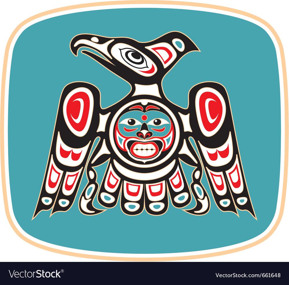 Eagle  native american style vector