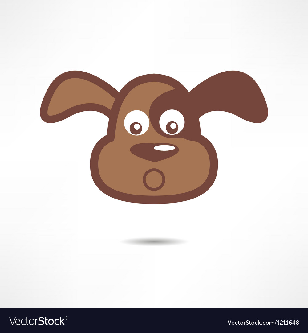 Surprised dog vector
