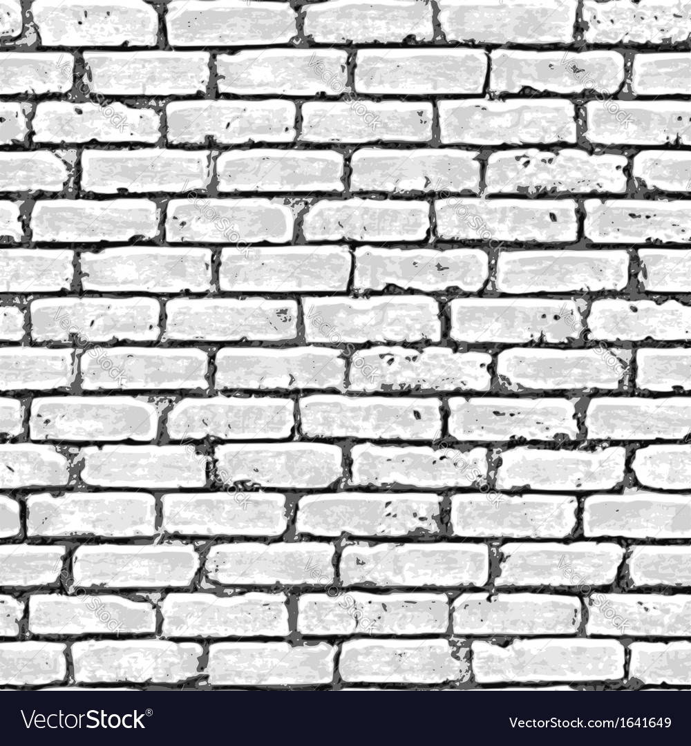 Brick wall seamless pattern vector