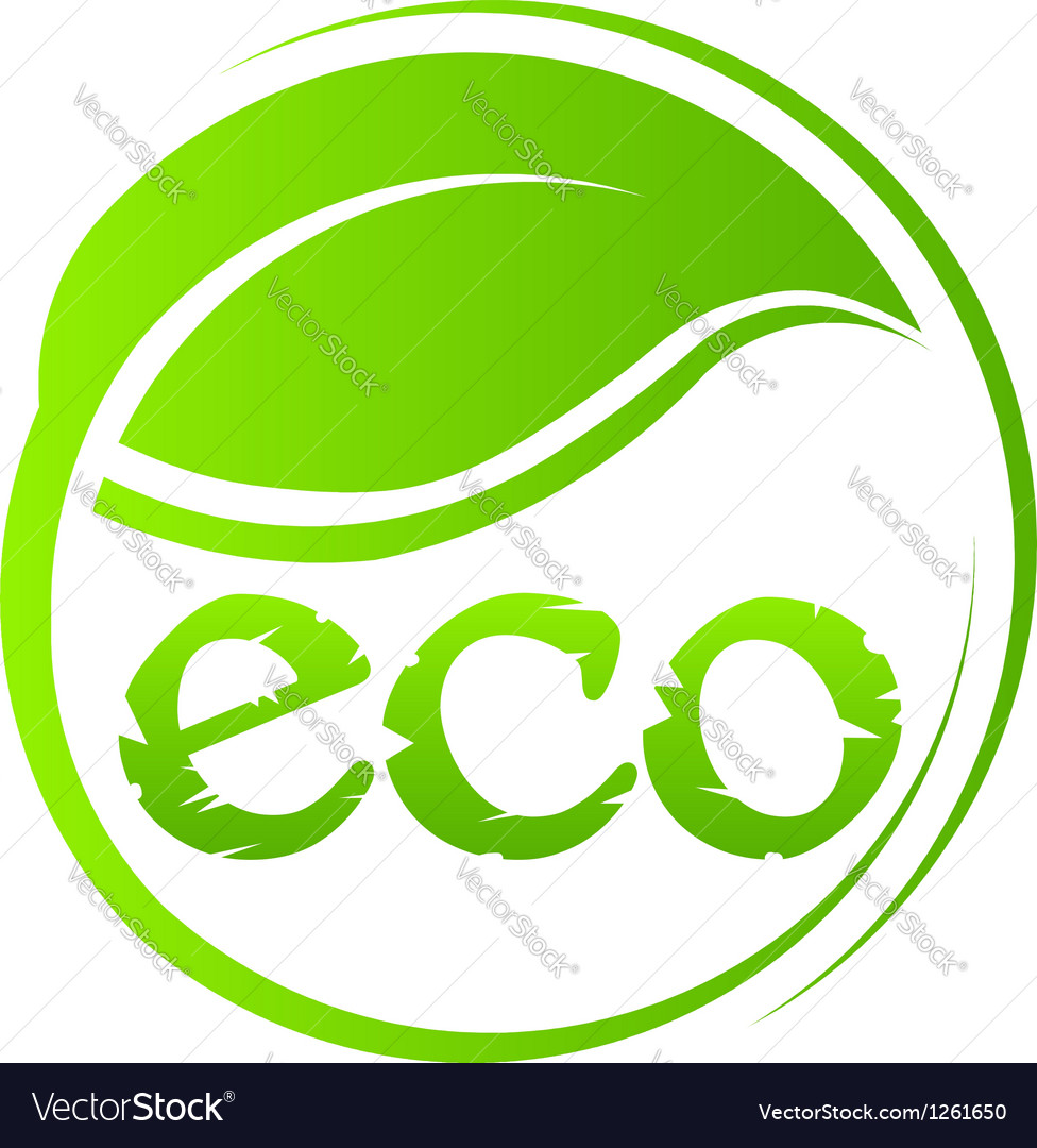 Eco green seal vector