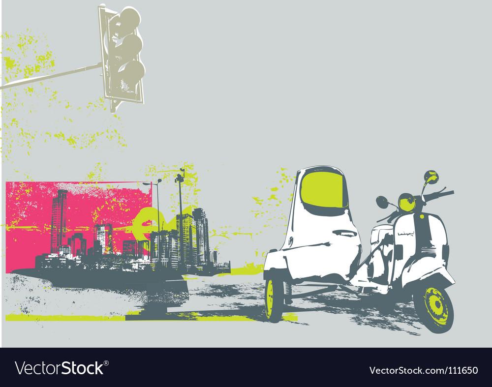 Urban background vector