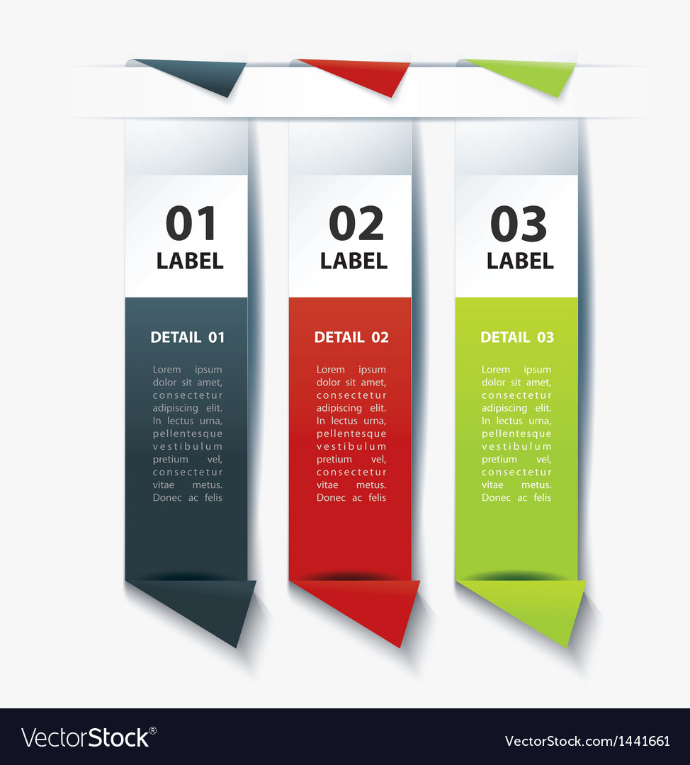 Set of colorful label paper tags vector