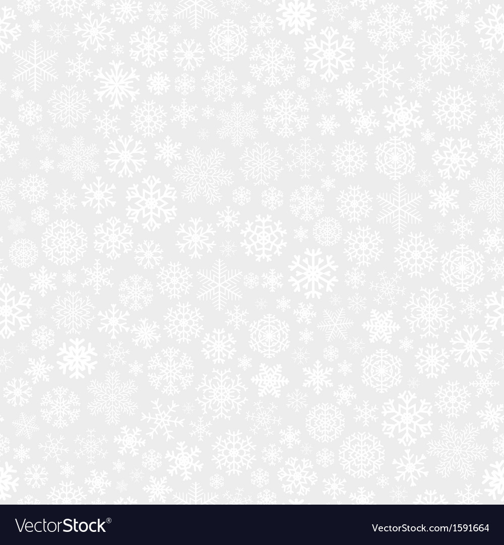 Christmas seamless pattern from snowflakes vector