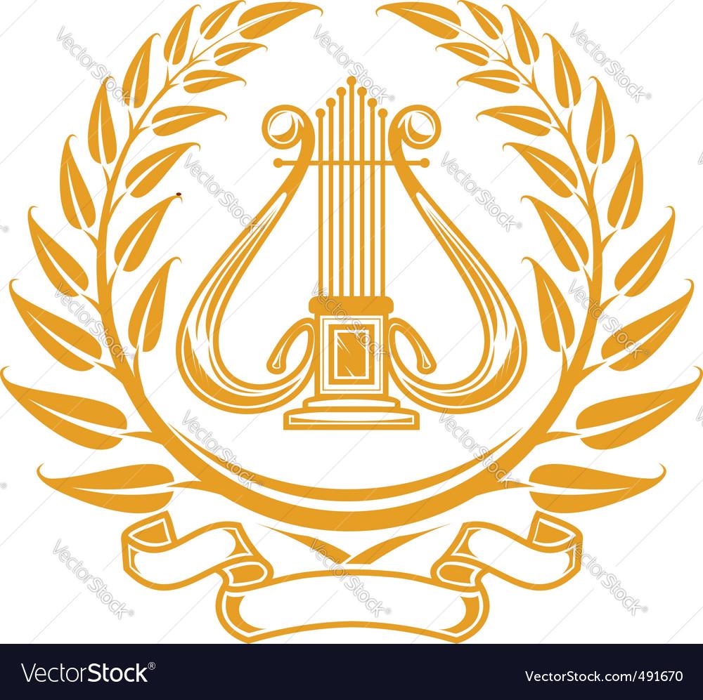 Harp symbol vector