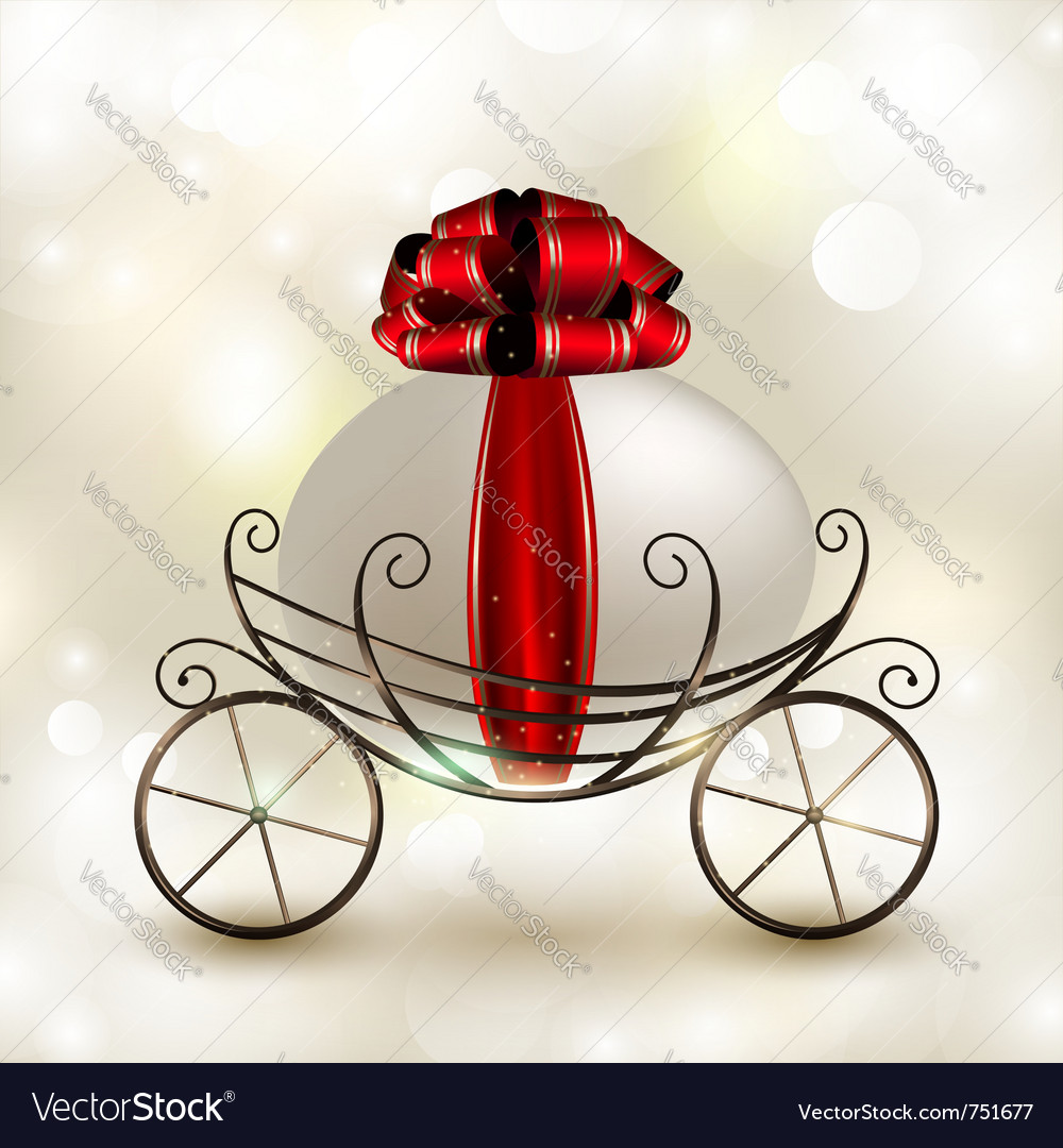 Easter basket carriage vector
