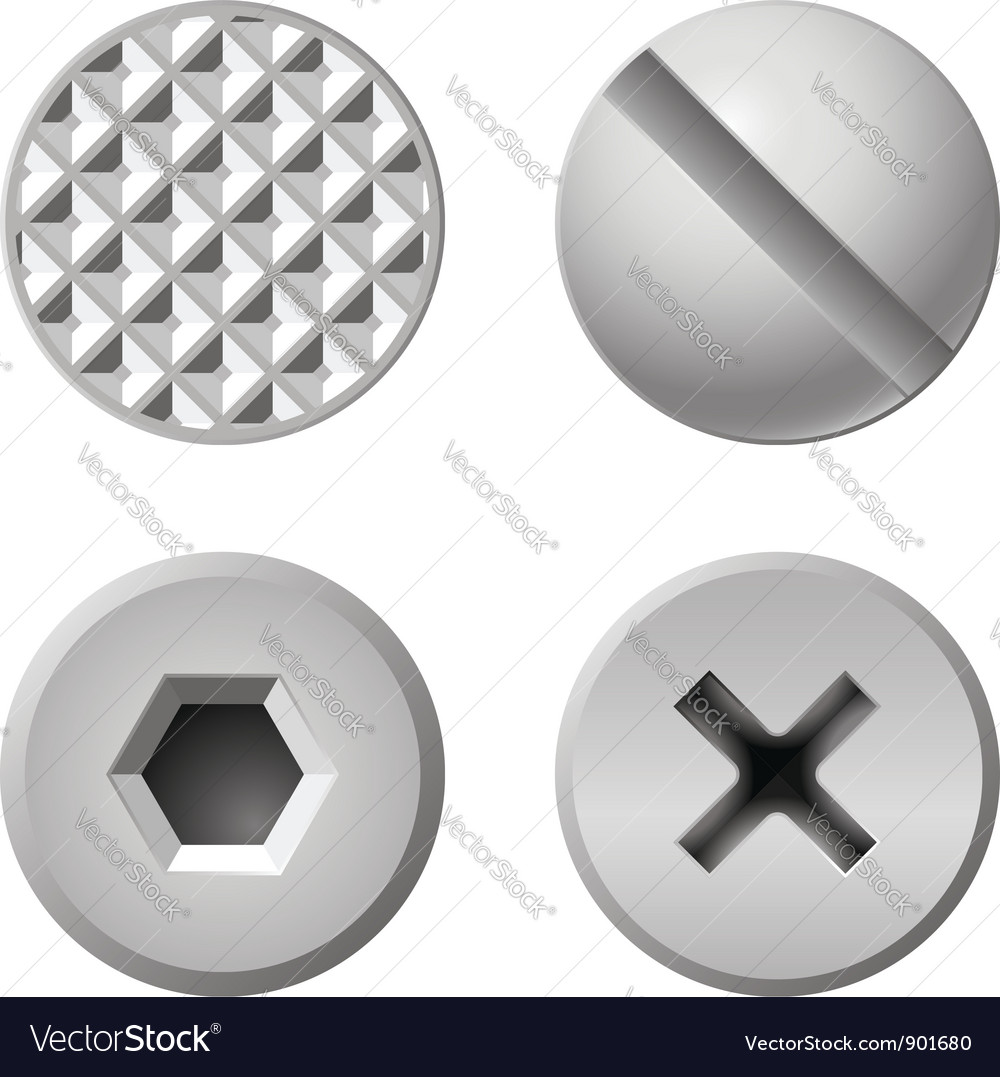 Realistic bolts vector