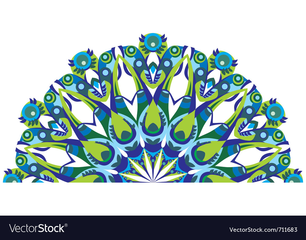 Decorative tail peacock vector