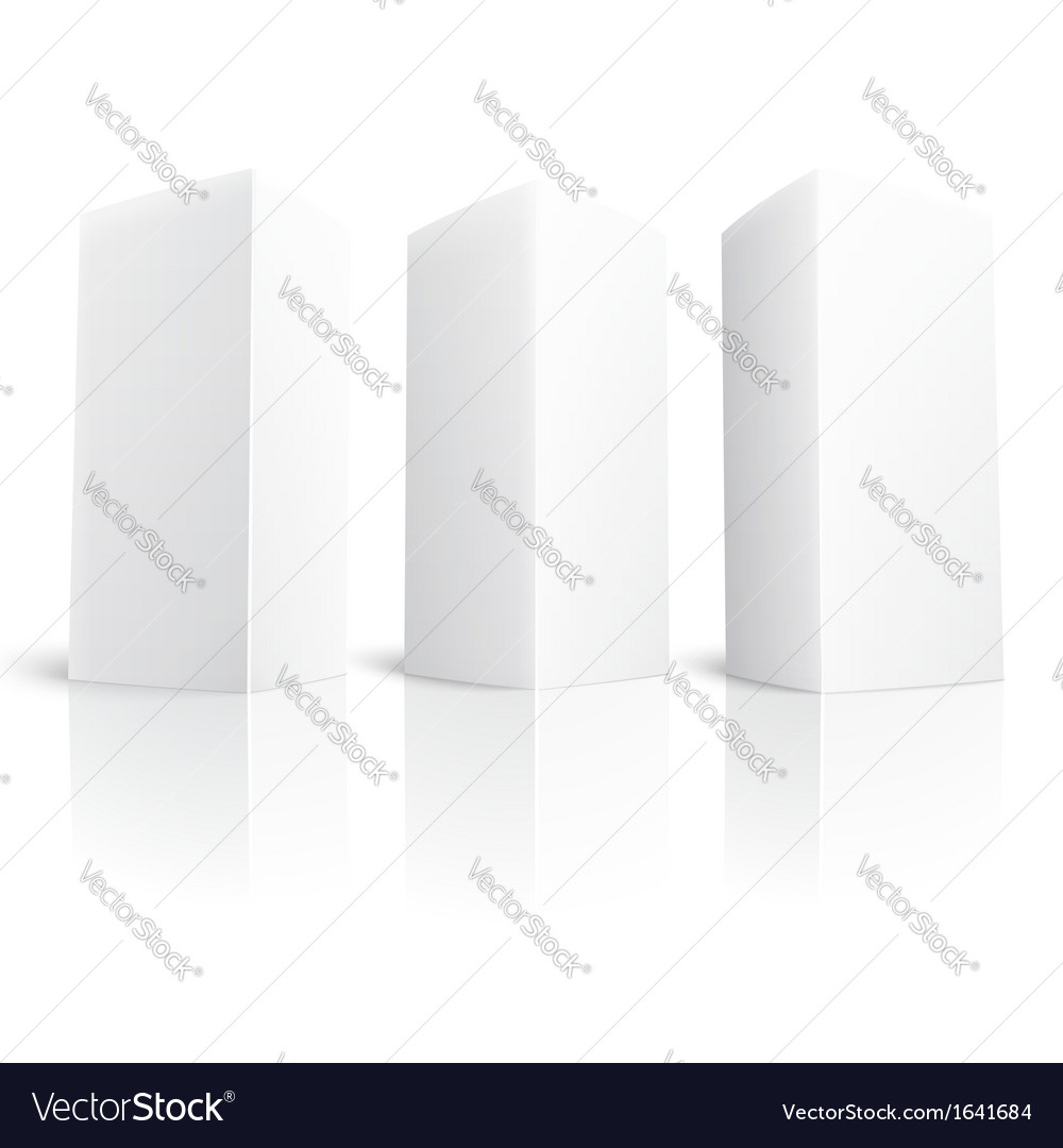 Blank paper vertical triangle cards vector