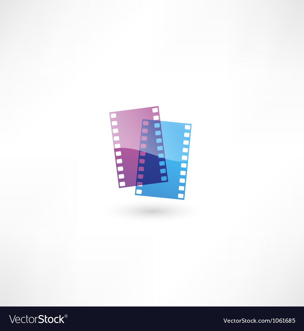 Film icon vector