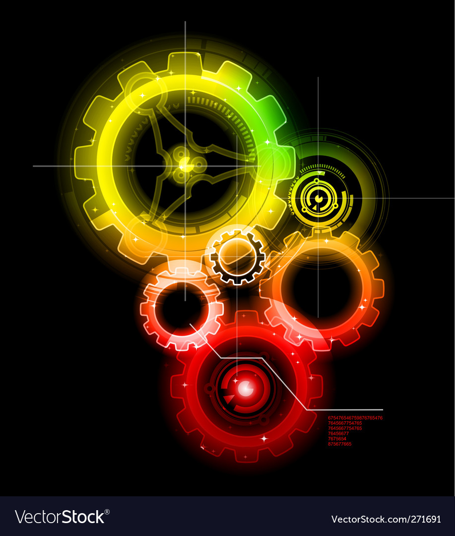 Techno gears vector