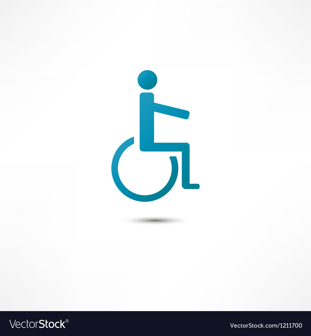 Disabled icon vector