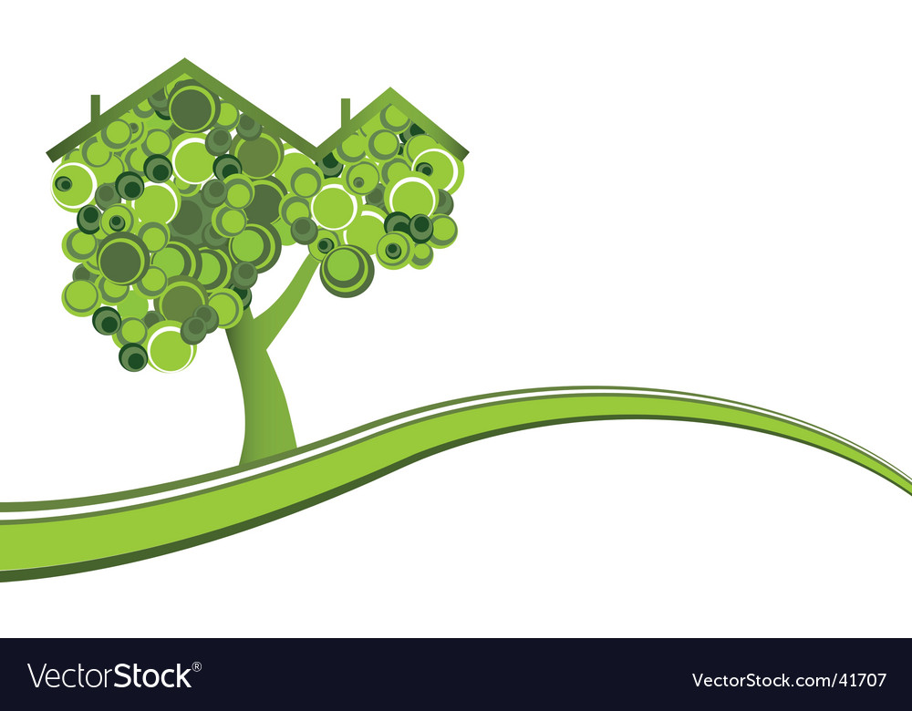 Conceptual ecology theme vector