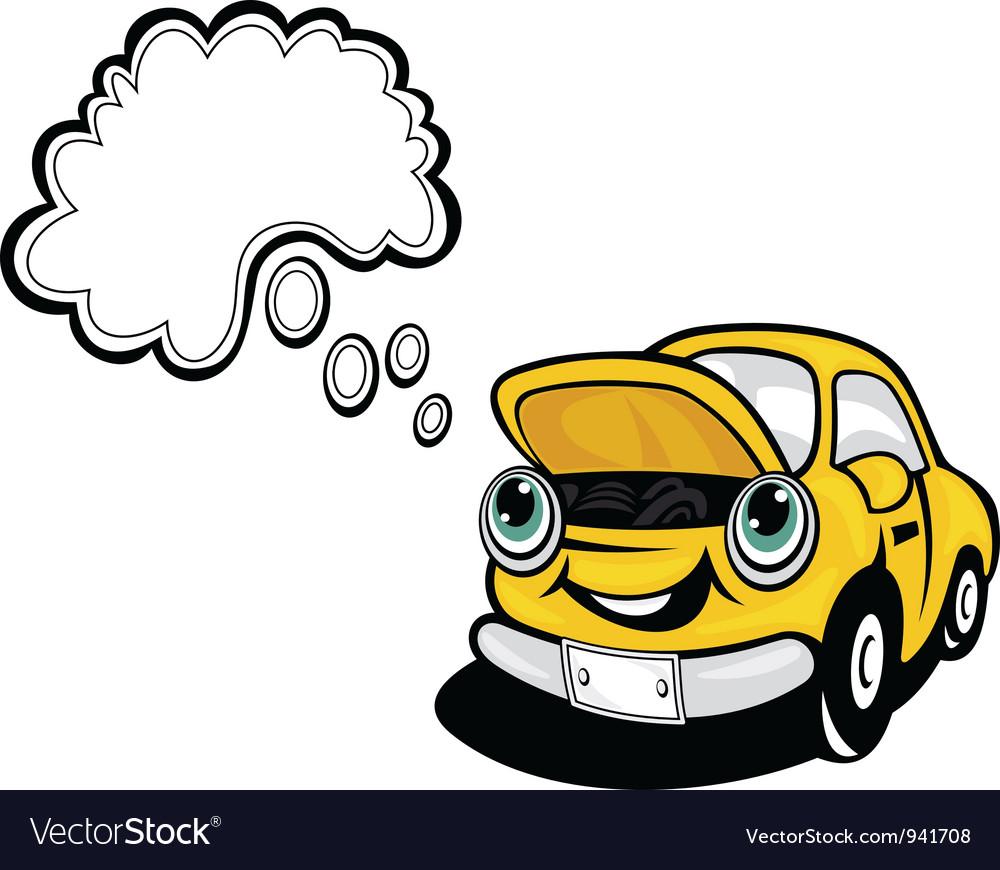 Smiling cartoon car vector