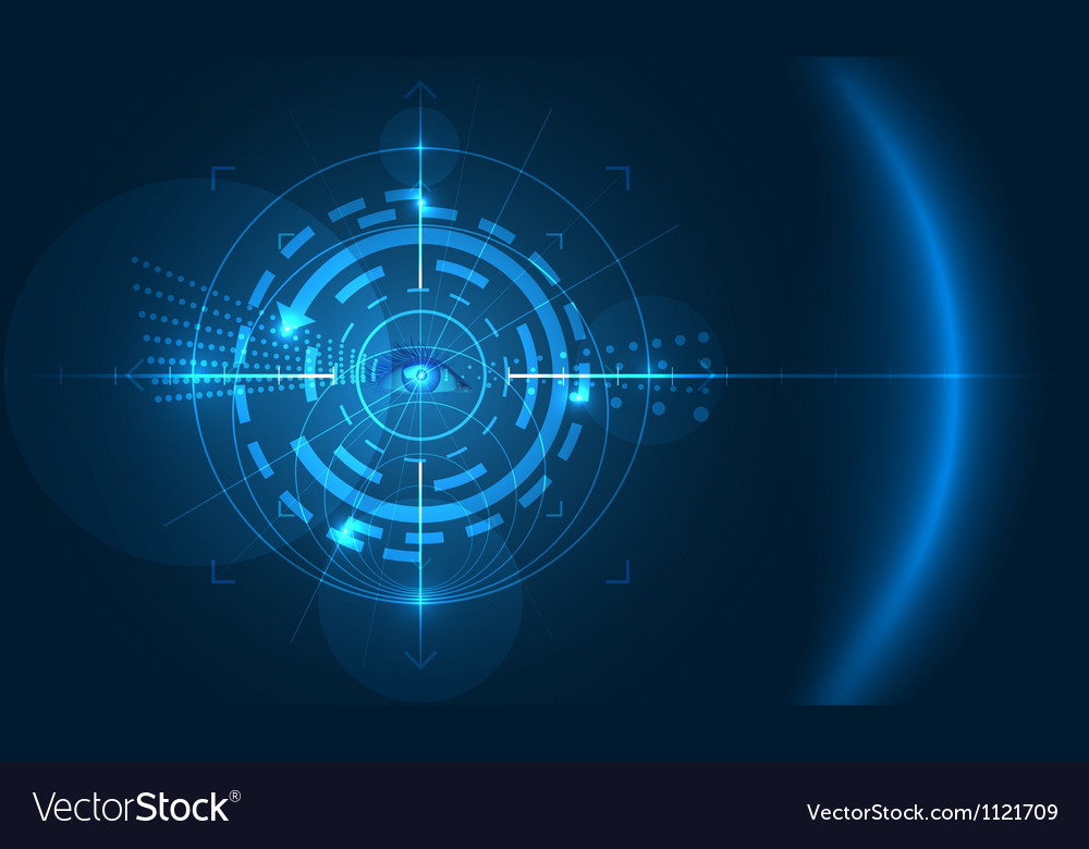 Eye of technology 1 vector