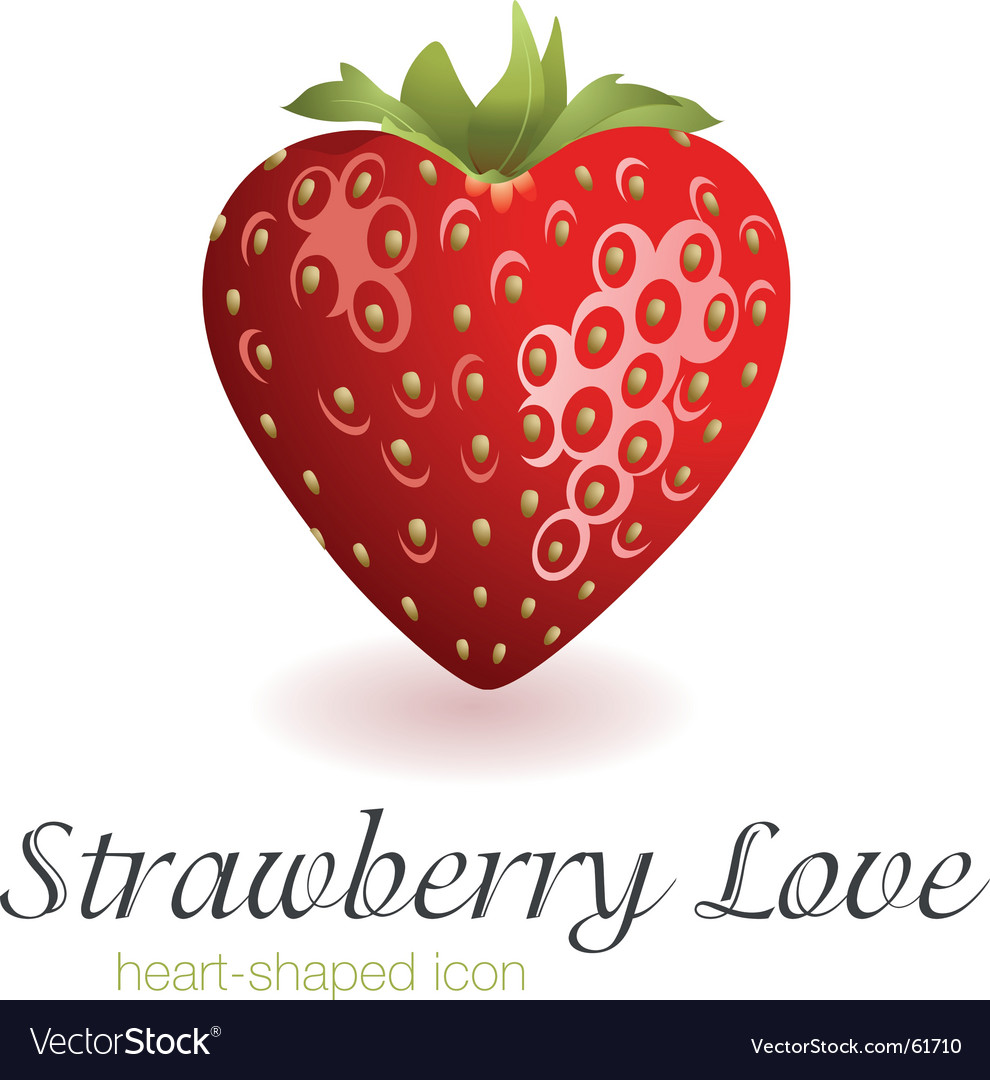 Strawberry love vector