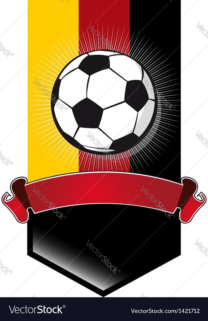 Germany soccer championship banner vector