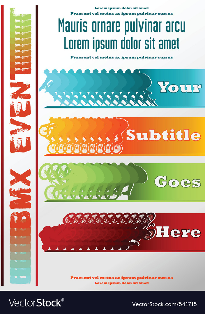 Sport event poster bmx vector