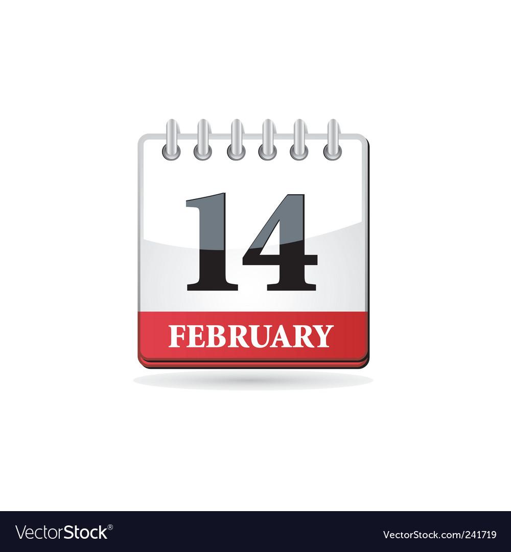 Red calendar vector